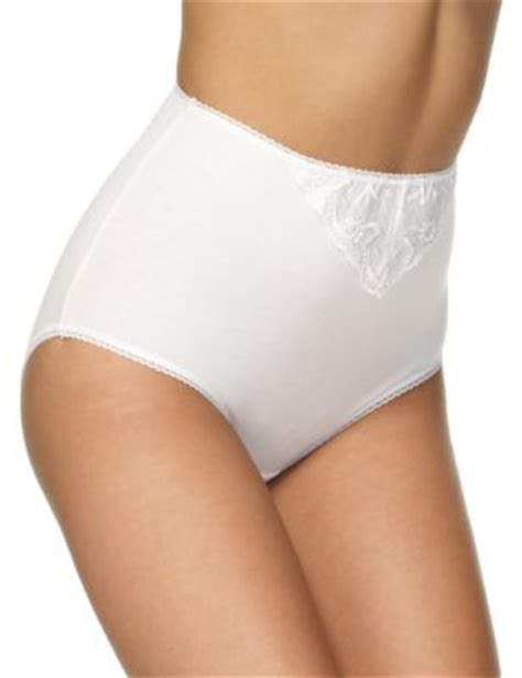 5 pack cotton rich embroidered high rise full briefs | m&s
