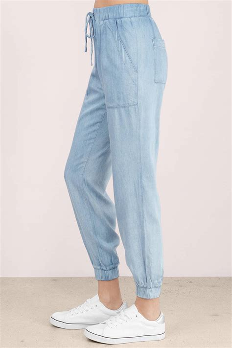 cool chambray joggers 88 tobi us