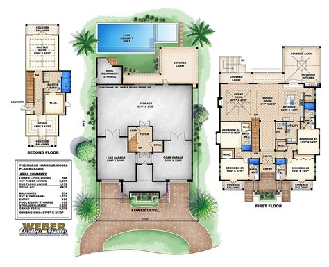 3 story florida house plan outdoor living