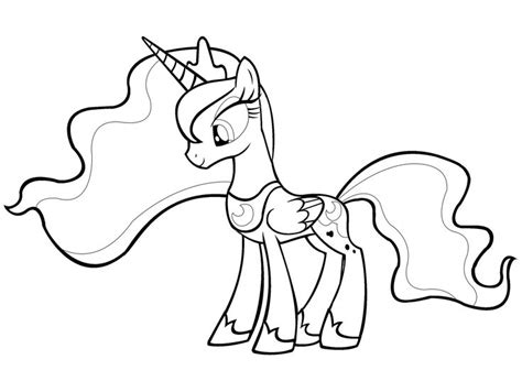 My Little Pony Coloring Pages Princess Luna And Celestia | 8 best images about my little pony coloring on pinterest