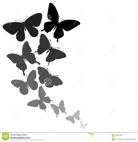 flying with a background with a border of butterflies flying stock illustration image 40907859