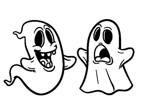 imagenes de calaveras y fantasmas dibujo de fantasmas para colorear dibujos net