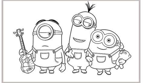 imagenes para colorear de minions minions para colorear bob stuart y kevin dibujos de