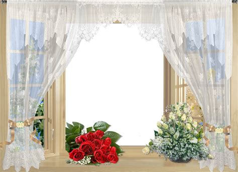 transparent window curtains beautiful window frame with curtain and roses gallery