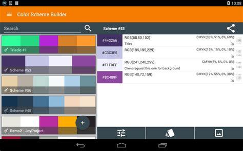 android color scheme color scheme builder fr appstore pour android