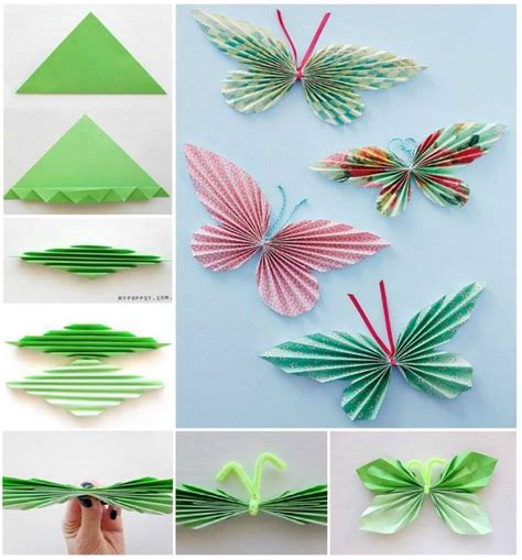 How To Make Butterflies Out Of Construction Paper - diy paper butterflies pictures photos and images for