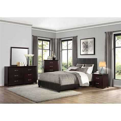 bedroom groups homelegance edina contemporary queen bedroom group value