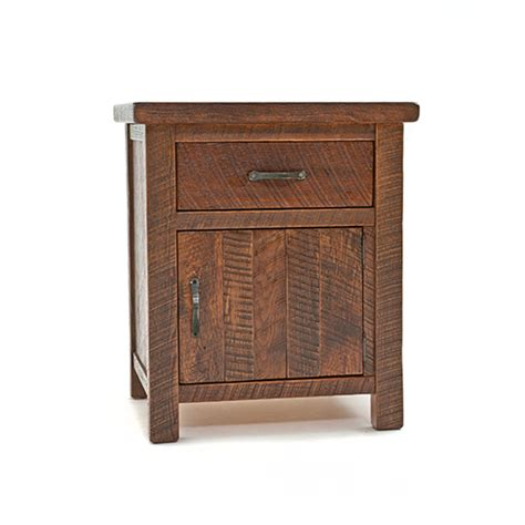 Nightstand With Door And Drawer Oak 1 Door 1 Drawer Nightstand Green Gables