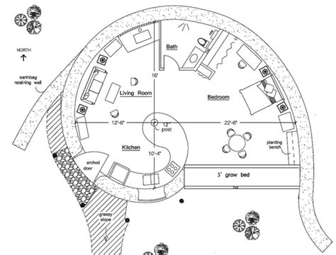 earthbag floor plans spiral earthbag house plan