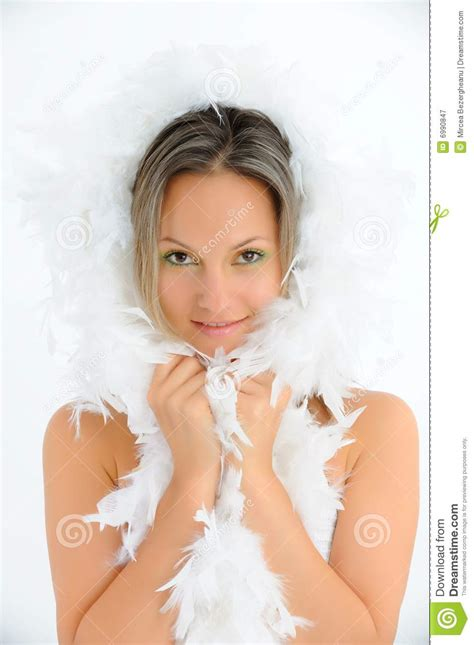 preteen girl with white feathers stock image image of beautiful girl with white feathers royalty free stock