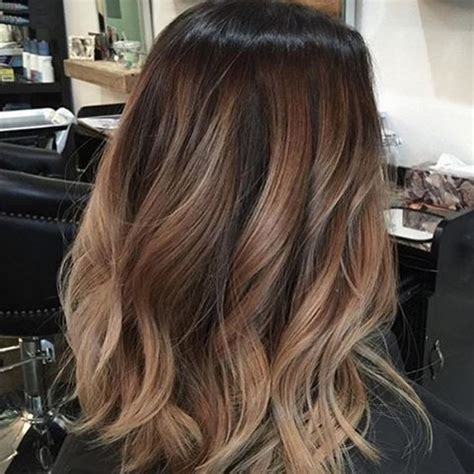 subtle ombre hair with soft waves medium ash brown hair ombr 233 hair caramelo cabelo curto liso marrom e cacheado