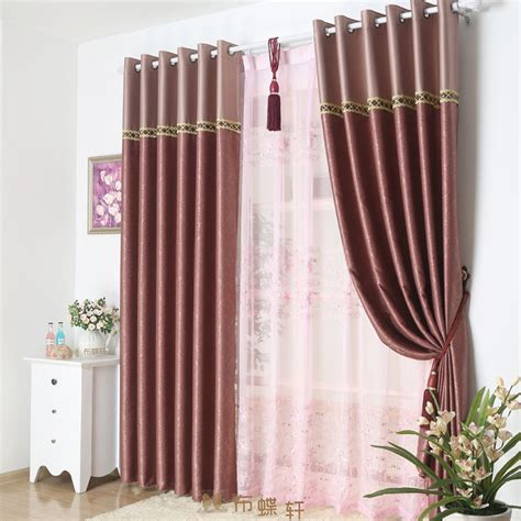 Comfortable bedroom or living room burgundy blackout curtains