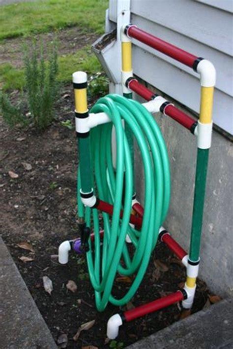 build  garden hose storage  planter diy projects