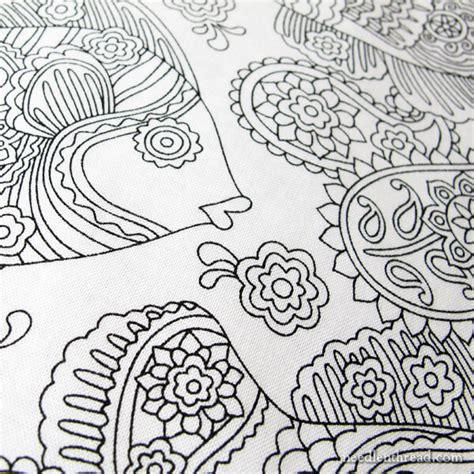 coloring book fabric fabric that begs to be embroidered needlenthread