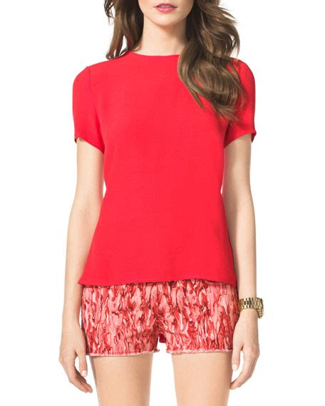 Sale Back Flare Top michael michael kors flare back top
