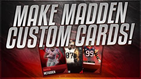 madden mobile 17 card template how to make custom madden mobile 17 cards tutorial