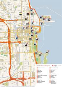 Maps Chicago by Pics Photos Chicago Attraction Map