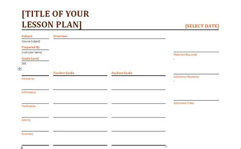 lesson plan template for word daily lesson planner template formal word templates