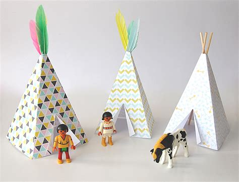 How To Make Paper Teepees - nalle s house some things teepee