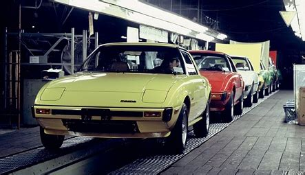mazda car line mazda assembly lines through the ages japanese nostalgic car