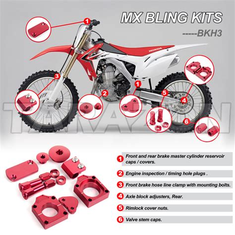 High Quality Aluminum Motorcycle Bling Kits For Offroad