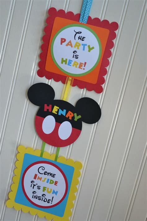 mickey mouse birthday party sign mickey mouse clubhouse birthday party door sign by