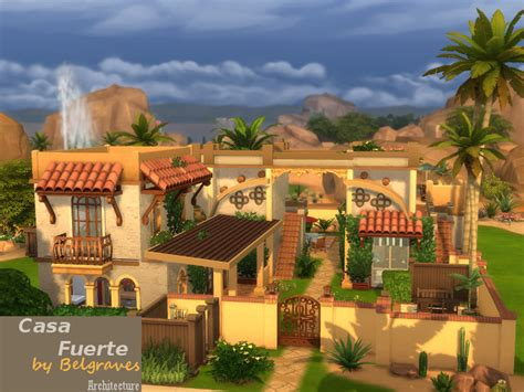 Coolest Treehouse In The World mediterranean casa fuerte sims 4 houses