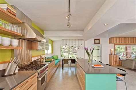 lime green kitchen summer colour schemes and home trends light wood kitchen furniture with lime green wall and open
