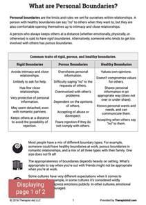 boundaries info sheet worksheet therapist aid