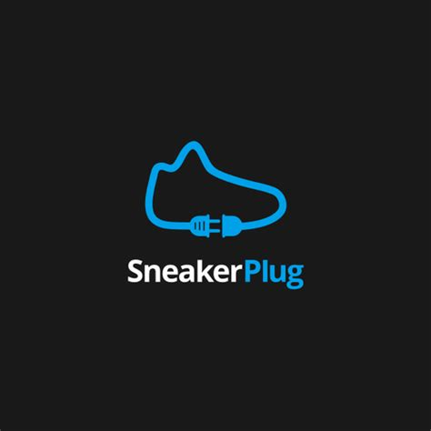 sneaker logos simple and flat logo incorporate silhoueltte from shoes