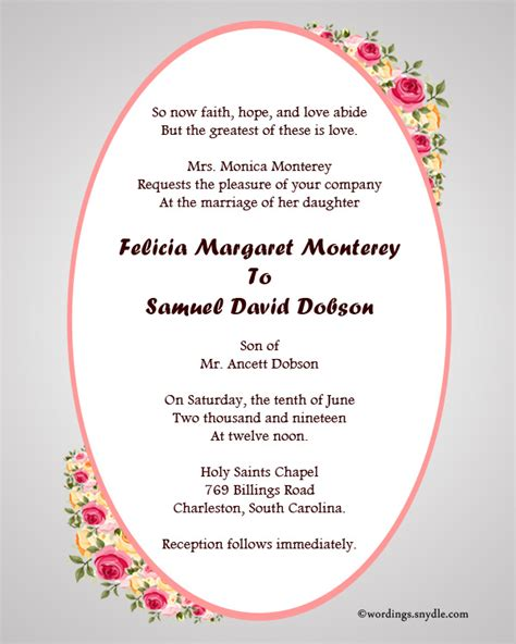Wedding Invitation Word God by Christian Wedding Invitation Wording Sles Wordings