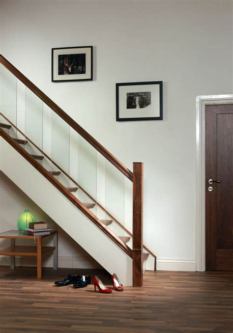Modern Glass Stairs Design Handrail For Glass Panels George Quinn Stair Parts Plus