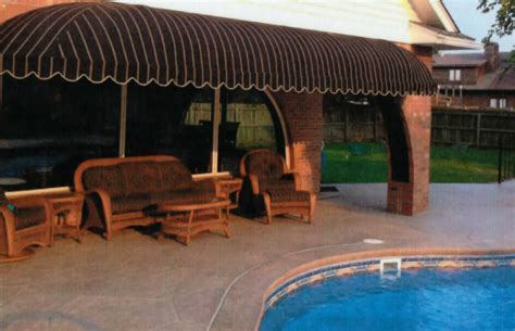 pool awning residential awnings delta tent awning company