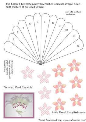 Card Fan Template by 621 Best Iris Folding Templates And Cards Images On