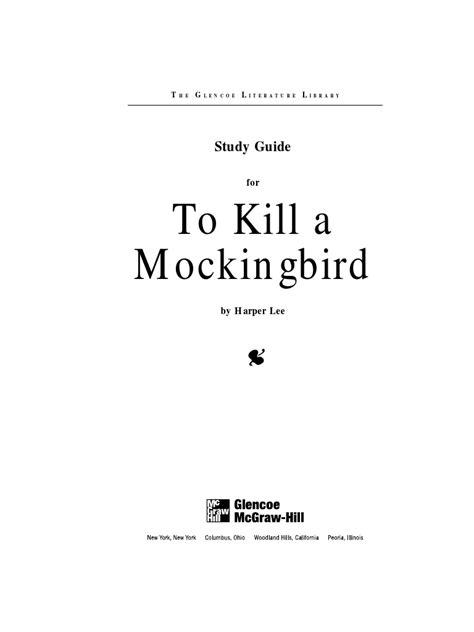 To Kill A Mockingbird Book Review Essay by To Kill Mockingbird Study Guide