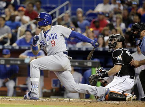 javier baez swing cubs hope javier baez s big swing will lead to opposite