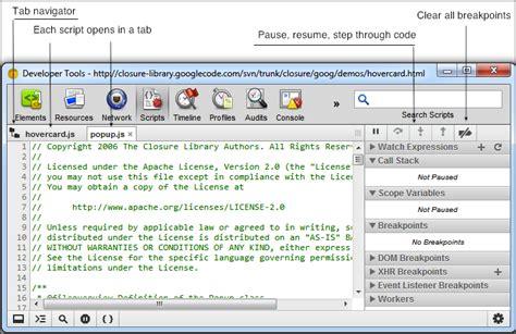 chrome developer tools debugging chrome developer tools missing script tab