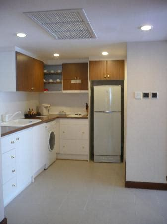 a small kitchen pantry area with complete amenities of the