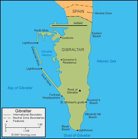 strait of gibraltar map gibraltar map and satellite image