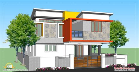 contemporary home plans and designs modern home design 1809 sq ft kerala home design and