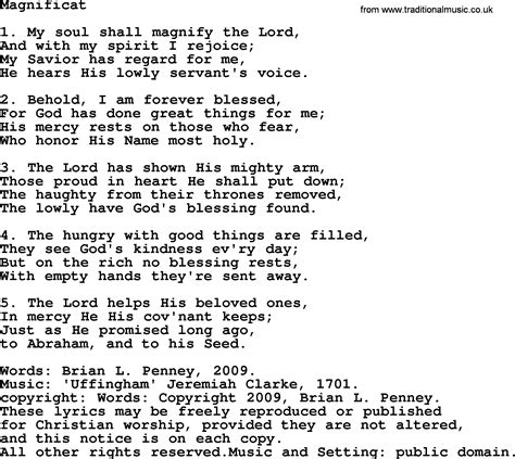 testo magnificat powerpoints song magnificat lyrics ppt for