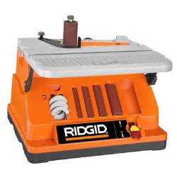 Bench Centers Inspection Oscillating Edge Belt Spindle Sander Ridgid