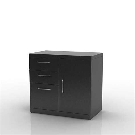 Black Storage Cabinet Black Storage Cabinets 3d Model Cgtrader