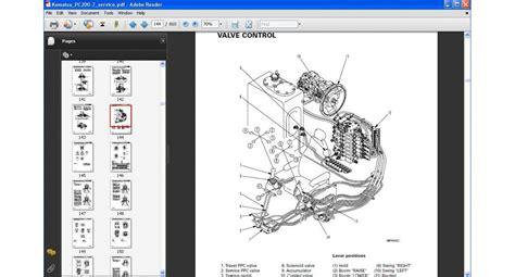Shop Manual Komatsu Excavator Pc200 8mo komatsu excavator pc200 7 series service repair manual