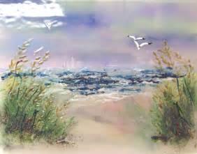 Beach scene mural designer glass mosaics designer glass