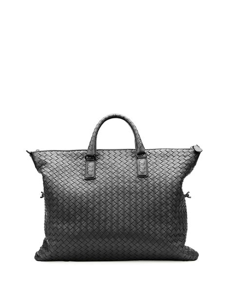 Bottega Veneta Deerskin Woven Tote by Bottega Veneta Medium Convertible Woven Tote Bag In Black