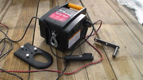 portable boat trailer lights master lock 2953at 12 volt dc portable winch youtube