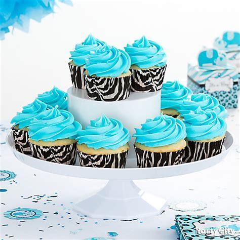 Blue Safari Baby Shower Ideas by Blue Safari Cupcake Idea Blue Safari Baby Shower Ideas