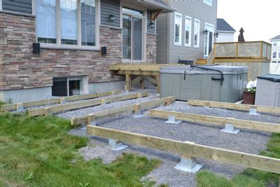 Cost To Build A Concrete Patio Titan Deck Foot Ground Anchored Deck Footings In A