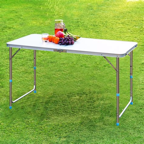 Adjustable Height Outdoor Dining Table Finether Folding Outdoor Table Ultralight Height Adjustable Aluminum Portable Table For Dining